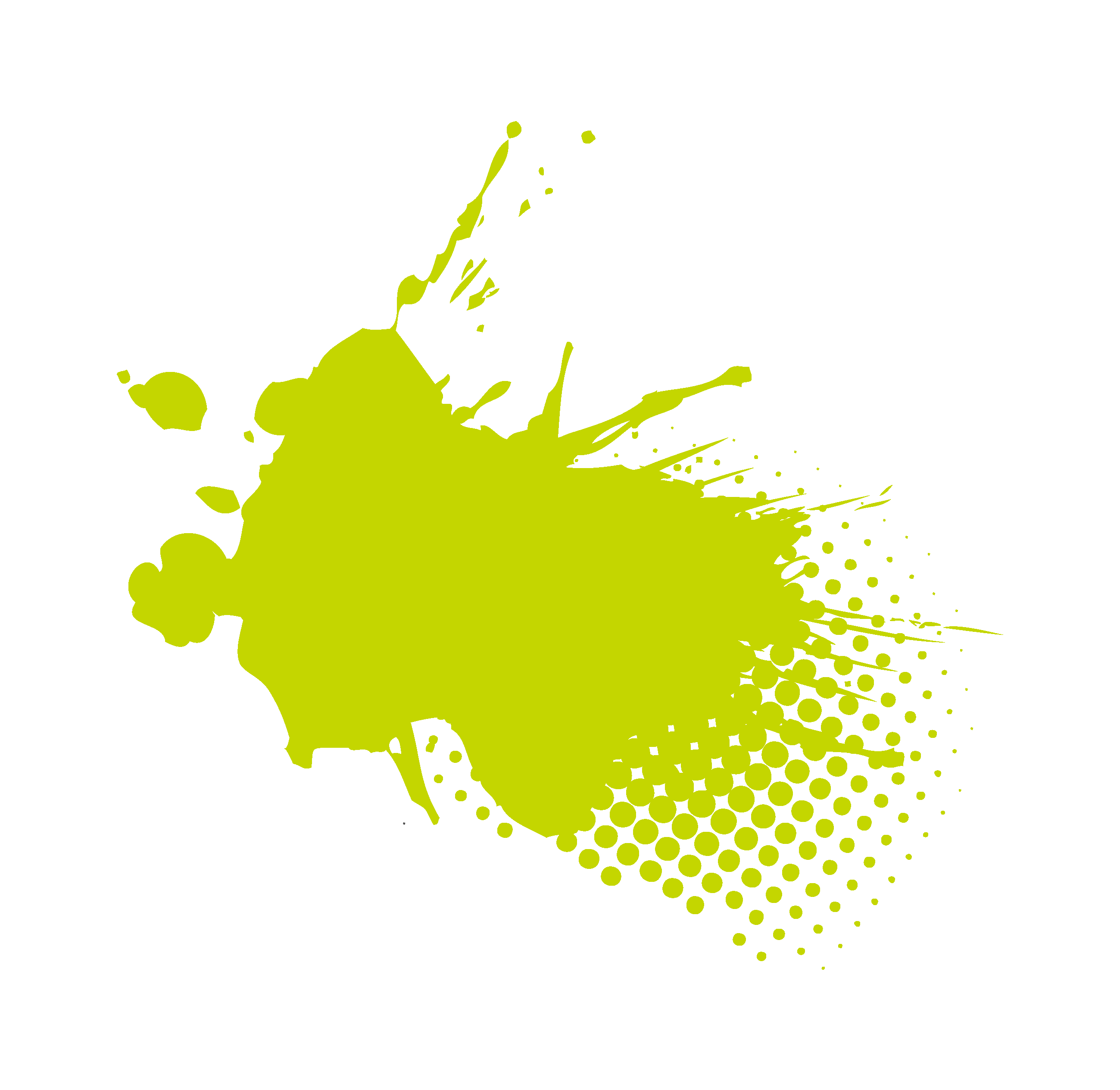 Image showing a green decorative paint splat