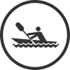 canoeing icon black