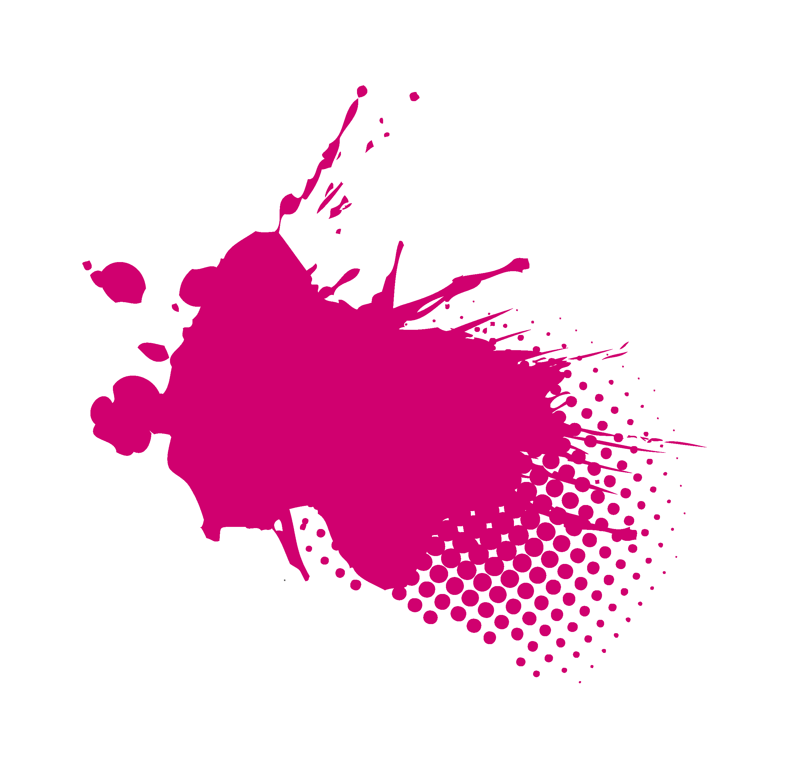 Image showing a pink decorative paint splat